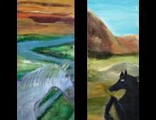 סוס שחור ולבן דיפטיךsmall